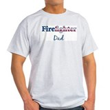 Firefighter Dad Ash Grey T-Shirt