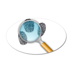 Fingerprints Under Magnifying Glass Wall Decal