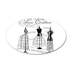 B&W Vintage Style Paris Couture Dressforms Decal W