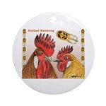 Sicilian Buttercup Chickens Ornament (Round)