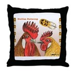 Sicilian Buttercup Chickens Throw Pillow