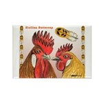 Sicilian Buttercup Chickens Rectangle Magnet