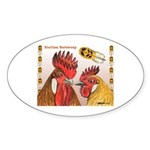 Sicilian Buttercup Chickens Oval Sticker