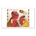 Sicilian Buttercup Chickens Rectangle Sticker