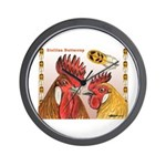 Sicilian Buttercup Chickens Wall Clock
