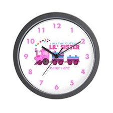 Cutest Lil Sister Train Wall Clock