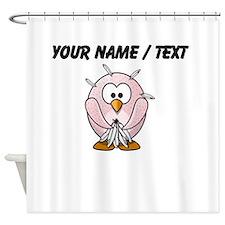 Custom Plucked Penguin Shower Curtain