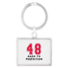 48 Year birthday designs Landscape Keychain
