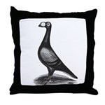 English Carrier Pigeon Throw Pillow
