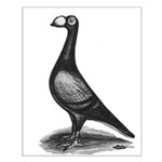 English Carrier Pigeon Small Poster