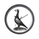 English Carrier Pigeon Wall Clock