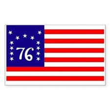 Bennington Flag 1776 Sticker (Rectangula