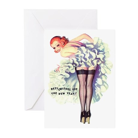 New Year Wishes Greeting Cards (Pk of 10)