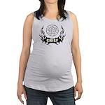 Fire Chief Tattoo Maternity Tank Top