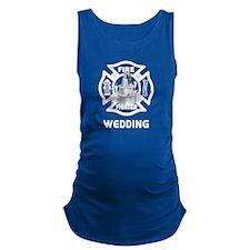 Firefighter Wedding Cake Maternity Tank Top