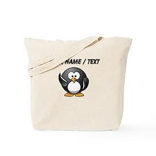 Custom Waving Penguin Tote Bag