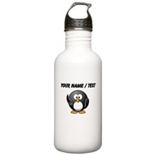 Custom Waving Penguin Sports Water Bottle