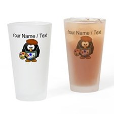 Custom Painter Penguin Drinking Glass