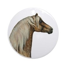 Palomino Morgan stallion ornament (Round)