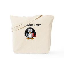 Custom Book Worm Penguin Tote Bag