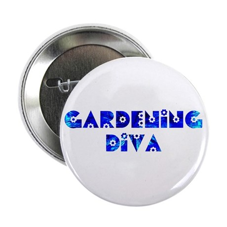 "Gardening Diva 2.25"" Button (100 pack)"