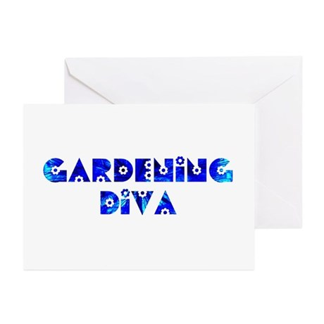 Gardening Diva Greeting Cards (Pk of 10)