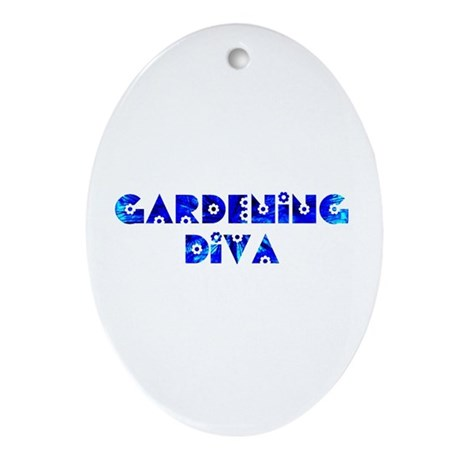 Gardening Diva Oval Ornament