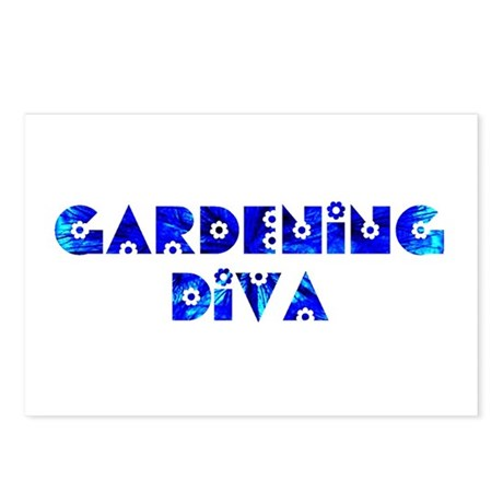 Gardening Diva Postcards (Package of 8)