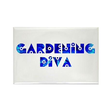 Gardening Diva Rectangle Magnet (100 pack)