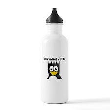 Custom Spikey Hair Penguin Sports Water Bottle