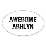Awesome Ashlyn Oval Decal