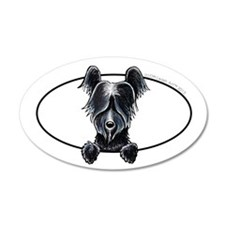 Skye Terrier Peeking Wall Decal