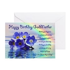 Birthday card for godmother with forget me nots Gr