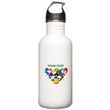 Personalized Billiard Balls Water Bottle