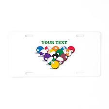 Personalized Billiard Balls Aluminum License Plate
