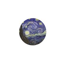 Starry Night by Vincent van Gogh Mini Button