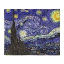 Starry Night by Vincent van Gogh Throw Blanket