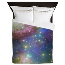 Outer space and stars Queen Duvet