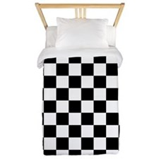 Black and white checkerboard Twin Duvet