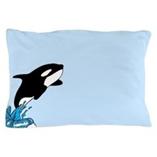 Blue killer whale Pillow Case