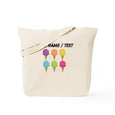 Custom Colorful Waffle Cones Tote Bag