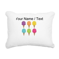 Custom Colorful Waffle Cones Rectangular Canvas Pi