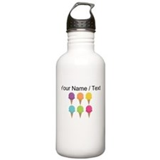 Custom Colorful Waffle Cones Sports Water Bottle