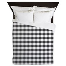 Black Gingham Queen Duvet