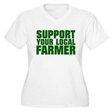 Support Your Local Farmer Plus Size T-Shirt