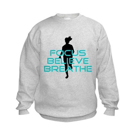 Aqua Focus Believe Breathe Kids Sweatshirt