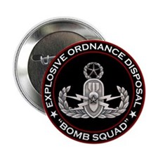 "Master EOD Bomb Squad 2.25"" Button (10 pack)"