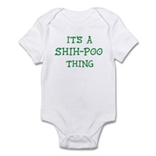 Shih-Poo thing Infant Bodysuit