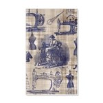 Vintage Sewing Toile 20x12 Wall Decal