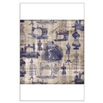 Vintage Sewing Toile Large Poster